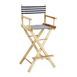 Director's Chair Striped Canvas Seat and Back - I would love to see these director chair bar stools in a cottage-style kitchen. Or do you a have filmmaker in the family? These would be a perfect fit.