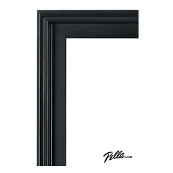 EnduraClad® Exterior Finish in Black - Available on Pella Architect Series® and Designer Series® wood windows and patio doors, EnduraClad exterior finishes offer 27 standard and virtually unlimited custom color options.