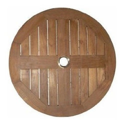"Anderson Teak - 24"" Lazy Susan - Our Teak Lazy Susan is a perfect compliment for your outdoor dining or bar table. The diameter is 24"" and comes fully assembled. A-Grade Teak Solid Wood Natural Finish."