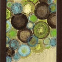 Artcom - Whimsy II by Jeni Lee Artwork - Whimsy II by Jeni Lee is a Framed Art Print set with a SOHO Espresso wood frame.