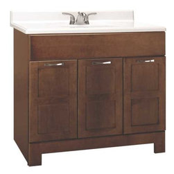 RSI HOME PRODUCTS - Cognac Vanity 36 x 21 x 33 1/2 - Fully assembled