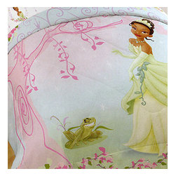 Jay Franco and Sons - Disney Princess Frog Twin Bed Comforter Tiana Pink Tree - Features: