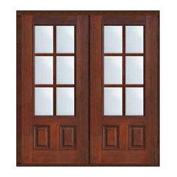 """Prehung Patio Double Door 80 Fiberglass 3/4 Lite 6 Lite SDL Glass - SKU#MCT08-SDL6_DF34D62BrandGlassCraftDoor TypeFrenchManufacturer Collection6 Lite French DoorsDoor ModelDoor MaterialFiberglassWoodgrainVeneerPrice3370Door Size Options2(32"""")[5'-4""""]  $02(36"""")[6'-0""""]  $0Core TypeDoor StyleDoor Lite Style3/4 Lite , 6 LiteDoor Panel Style2 PanelHome Style MatchingDoor ConstructionPrehanging OptionsPrehung , ImpactPrehung ConfigurationDouble DoorDoor Thickness (Inches)1.75Glass Thickness (Inches)Glass TypeDouble GlazedGlass CamingGlass FeaturesTempered glassGlass StyleGlass TextureClearGlass ObscurityNo ObscurityDoor FeaturesDoor ApprovalsTCEQ , Wind-load Rated , AMD , NFRC-IG , IRC , NFRC-Safety GlassDoor FinishesDoor AccessoriesWeight (lbs)603Crating Size25"""" (w)x 108"""" (l)x 52"""" (h)Lead TimeSlab Doors: 7 Business DaysPrehung:14 Business DaysPrefinished, PreHung:21 Business DaysWarrantyFive (5) years limited warranty for the Fiberglass FinishThree (3) years limited warranty for MasterGrain Door Panel"""