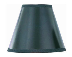 Lite Source - Black w/Gold Liner Clip-On Candelabra Shade - This sleek candelabra shade makes a remarkable statement with its jet black tones, uncommon for many lamp shades. Envision the light escaping through the lampshades fabric, and the effect is altogether striking. The finish within the shade renders the light almost golden, and the illusion created is one of gold light spilling out from under the blackness. Beautiful and poignant, this is one unique shade to have on your lamps.