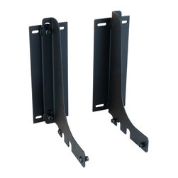 Hardware Resources - Cabinet Door Mounting Kit - Includes mounting hardware and instructions. Horizontal and vertical door adjustment. For used with single and double pull-out waste container system. Made from heavy duty steel. Made in USA. 2.5 in. W x 5.25 in. D x 6.63 in. H