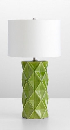 Cyan Design - Hoshi Table Lamp - If you need a little light in your space, a bar cart is the perfect place for a table lamp. I love the texture and color here — that green is so fresh and happy!