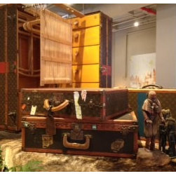 Decor NYC Consignment Archive - New at Decor NYC - Vintage Louis Vuitton men's wardrobe steamer trunk and suitcases!
