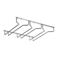 Under Cabinet Stemware Rack, Chrome