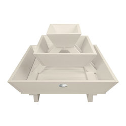 Pyramid Flower Box, White