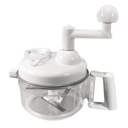 Weston - Manual Kitchen Kit - Manual Kitchen Kit - Three blade operation chops, blends, slices, shreds and juices.  perfect for salads, salsa, batters, etc. Includes egg separator, beater attachment, citrus juicer attachment, mandoline slicer w/ four blades & safety food pusher.  removable handle.  top-shelf dishwasher safe