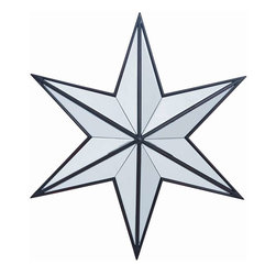 Cooper Classics - Cooper Classics Baxter Mirror, Distressed Black - Add a stunning focal point to any room with the beautiful Baxter mirror. This lovely star shaped mirror extends out from the wall and features a black finish that will compliment any decor.