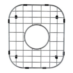 Kingston Brass - Stainless Steel Grid for KU14167BN - To prevent damage from your sink, this stainless steel grid from Kingston Brass safeguards any harm caused from overflowing kitchen appliances (pots and pans). The grid consists of horizontal and vertical bars and slots to allow dishes and bowls to be placed rather than the surface of the sink where scratches can form. A circular gap is also designed on the platform to allow easy access to the drain before washing your kitchen appliances.