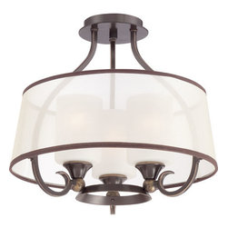 Quoizel Lighting - Quoizel PLR1716PN Palmer 3 Light Semi-Flush Mount, Palladian Bronze - Semi flush  palladian bronze