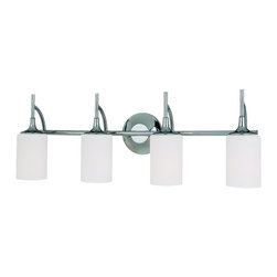 """Sea Gull Lighting - Sea Gull Lighting 44955-05 Stirling Transitional Bathroom / Vanity Light - Height from center of outlet box up: 6.125"""" down: 5""""."""