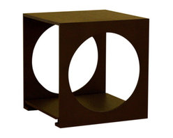 Baxton Studio - Baxton Studio Round Cut Out Black Wood End Table - Unique and stylish end table is sure to enhance and compliment any decor. End table features durable oak wood construction with unique circle cut design and storage area. Its perfect combination of quality craftsmanship and simple, sophisticated designs will instantly enhance your living space.
