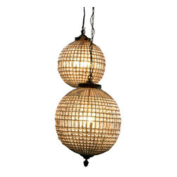 fillingspaces - Crystal Chandlier - If you want to see where your home is headed in the future, look into this crystal ball. It's a pendant ready to light up your hall, bedroom, entry or anywhere else you need a little sparkle. The detailed canopy is crafted of metal in a brass or nickel finish, and comes with three feet of coordinating chain. The globe is covered in multi-faceted crystals and comes in your choice of sizes.