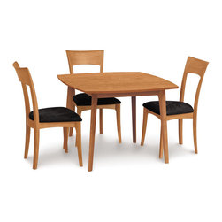 "Copeland Furniture - Copeland Furniture Catalina 40"" Square Fixed Top Dining Table 6-CAL-05-03 - Catalina fixed top tables are available in three sizes. The Catalina dining room is crafted in solid American black walnut or solid cherry hardwood."