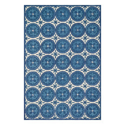"""Loloi Rugs - Loloi Rugs Taylor Collection - Ivory / Blue, 7'-10"""" x 11'-0"""" - The colors are vivid and the designs are beautiful, but what's really special about the Taylor Collection is its knobby, textural feel underfoot. That's because each Taylor rug is hand-hooked by skilled artisans in India to form a thick 100% wool pile. And with transitional designs ranging from trendy chevron patterns to fresh damasks, it's easy to find just the right style for your home."""