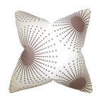"""The Pillow Collection - Guthrie Geometric Pillow, Smoke 18"""" x 18"""" - Spruce up your interiors with this contemporary decor piece."""