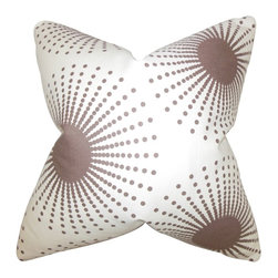 "The Pillow Collection - Guthrie Geometric Pillow, Smoke 18"" x 18"" - Spruce up your interiors with this contemporary decor piece."