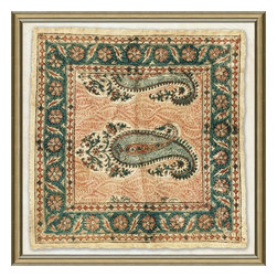 Wendover Art - Vintage Silk Handkerchief IV - This striking Giclee on Paper print adds subtle style to any space. A beautifully framed piece of art has a huge impact on a room for relatively low cost! Many designers and home owners select art first and plan decor around it or you can add artwork to your space as a finishing touch. This spectacular print really draws your eye and can create a focal point over a piece of furniture or above a mantel. In a large room or on a large wall, combine multiple works of art to in the same style or color range to create a cohesive and stylish space!