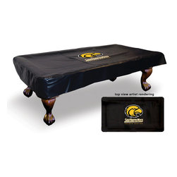 Holland Bar Stool - Holland Bar Stool BTC-SouMis Southern Miss Billiard Table Cover - BTC-SouMis Southern Miss Billiard Table Cover belongs to College Collection by Holland Bar Stool For the ultimate in game room products, look no further than Holland Bar Stool Company! Protect your billiard table and show your colors with an Officially Licensed pool table cover. Available in 7 feet, 8 feet or 9 feet lengths, our covers are hand-made in our Holland, MI facility using a commercial, woven-back vinyl. Each cover is screen printed to provide the most detailed and durable logo possible. Never compromise quality when showing support for your team, insist on Holland Bar Stool.  Billiard Table Cover (1)