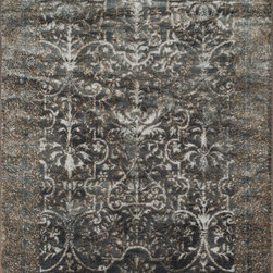 """Loloi Rugs - Loloi Rugs Elton Collection - Slate / Bronze, 2'-6"""" x 7'-7"""" - Designed to look like a modern version of yesterday's classics, the Elton Collection features intentionally distressed pattern that matches well with contemporary to transitional spaces. Elton is power loomed in Egypt of polypropylene and polyester for great durability and easy maintenance. Available in six sizes including a runner and a scatter."""