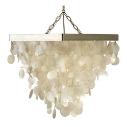 Capiz Seashell Rain Drop Pendant Lamp