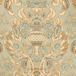 """Ballard Designs - Bryn Mawr Fabric By The Yard - Content: 100% Linen. Repeat: Non-railroaded fabric with 36"""" repeat. Care: Dry clean. Width: 54"""" wide. Big soft florals of sea glass, mineral, cream and latte printed on crisp 100% linen . Repeat: Non-railroaded fabric with 36"""" repeat .  . Width: 54"""" wide . Because fabrics are available in whole-yard increments only, please round your yardage up to the next whole number if your project calls for fractions of a yard. To order fabric for Ballard Customer's-Own-Material (COM) items, please refer to the order instructions provided for each product.Ballard offers free fabric swatches: $5.95 Shipping and Processing, ten swatch maximum. Sorry, cut fabric is non-returnable."""