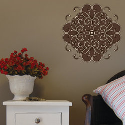 Floral Headboard Vinyl Wall Decal FloralHeadboardUScolor005; 12 in. - Vinyl Wall Decals are an awesome way to bring a room to life!