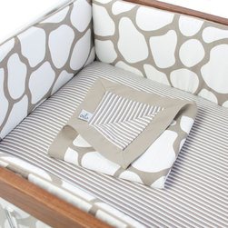 Oilo - Cobblestone Bumper, Taupe - The cobblestone design on this crib bumper cover is perfect for a baby boy or girl. You could pull in any number of accent colors to play up the neutral and modern palette. And the two-piece removable cover is machine washable, which is oh-so important when decorating for a baby.