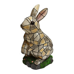 Pier Surplus - Solar Lighted Rabbit Accent Light -- Landscape Ornament #SO10246 - Solar Lights are a perfect way to enhance safety, nighttime aesthetics, accessibility, and beauty to your yard. Using high quality materials, our solar lights will provide durability and long life for whether being used for a special occasion or light up your flower bed.