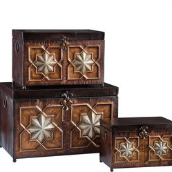 Nathaniel 3pc Trunk Set