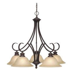 Golden Lighting - Golden Lighting 6005-D5 RBZ 5 Light Nook Chandelier - Perfect for soft modern and soft traditional