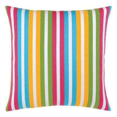 """New Elaine Smith Pillows - Elaine Smith Pillows Rio De Janeiro Tropicana Stripe - 20"""" x 20"""" - Elaine Smith Pillows"""