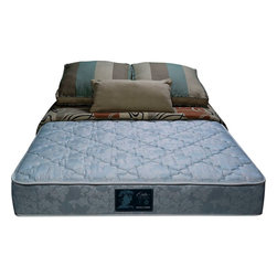 """Wolf Corp - Orthopedic Deluxe Plush Twin Mattress - The Orthopedic Deluxe Plush mattress features high-density foam encasement construction. Wolf's advanced cotton and polyester quilt with premium damask cover helps the body breathe and maintain an ideal sleeping temperature throughout the night. The Ortho Ultra plush is ideal for side sleepers and """"restless"""" sleepers. It features an extra comfort layer of convoluted finger foam above the innerspring for a medium-soft feel. Premium quality, posturized, plush firm foam encased 10"""" rollable mattress.; 336 high profile coil unit; foam encased border; upholstered with convoluted foam for plush feel; luxury damask quilt for extra conforming comfort; Dimensions: 11""""H x 38""""W x 75""""D"""