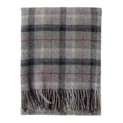 Country Tartan Blanket - From picnics to road trips and everywhere in between, this dashing wool blanket with keep you cozy and warm, it even includes a chic tobacco leather carrying strap for ease in your adventures.