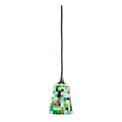 Kichler - Kichler Confetti 1-Light Brushed Nickel Down Mini Pendant - 60263 - This 1-Light Down Mini Pendant is part of the Confetti Collection and has a Brushed Nickel Finish.