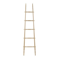 MatterMade - MatterMade | Orchard Ladder No. 1 - Design by Paul Loebach, 2009. Made in the U.S.A. by MatterMade. The Orchard Ladder No. 1 adds a 19th century-inspired sculptural element to your modern living space. In the 1800s it would have been common to see similar ladders in apple orchards. While this intricate form is rooted in tradition, it is constructed with benefits of modern technology. Hard maple components are formed to fit snugly together without fasteners. Orchard Ladder No. 1 can be used to store and display your favorite textiles, such as quilts, towels and clothing, or can be a modern stand-alone piece. Orchard Ladder No. 1 is not intended for climbing.