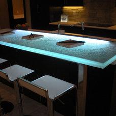 Contemporary Bar Tables by CBD Glass Studios