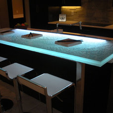 Contemporary Indoor Pub And Bistro Tables by CBD Glass Studios