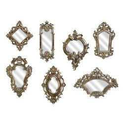 IMAX Loletta Victorian-Inspired Mirrors - These intricate gold mirrors could add such glamour.