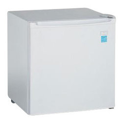 Avanti - 1.7 Cubic-Foot Compact Refrigerator White - 1.7 CF Compact White Refrigerator, Manual defrost, chiller compartment for short term storage, full range temperature control, reversible door - left or right swing, 2-liter bottle storage on door.