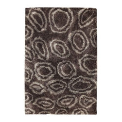 Mat-The-Basics - Island Rug by Mat-The-Basics - Turn your living space into an oasis of relaxation with the Mat-The-Basics Island Rug. It features an irregular ringed pattern in a tone-on-tone color palette. The soft forms of the rings are matched by the softness of the deep shag pile, which is hand tufted using 100% polyester yarns. Mat-The-Basics has pioneered a new type of carpet - refined, handmade rugs that combine innovative design with a dedication to the highest standards of craftsmanship. These carpets, inspired from contemporary shapes and colors, are created using the traditional techniques of skilled weavers including hand-tufting, hand-weaving and hand-knotting methods.