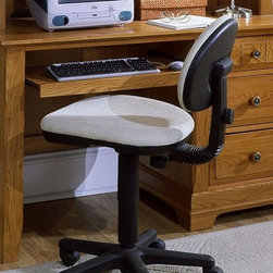 Vaughan Bassett - 3-Drawer Pull Out Computer Desk in Oak Finish - Desk chair not included. 3 Drawers. 1 Pull out tray. Oak finish. Assembly required. 52 in. W x 27 in. D x 30 in. H. Computer hutch: 51.5 in. L x 13 in. W x 48 in. H (optional). Computer chair: 21 in. L x 20 in. W x 35 in. H (optional)