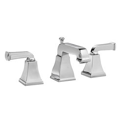 American Standard - American Standard 2555.821.002 Townsquare Two-Handle Bath Faucet-Polished Chrome - American Standard 2555.821.002 Townsquare two handle Widespread Lavatory Faucet, Polished Chrome. This widespread lavatory faucet features a Speed Connect pre-assembled drain that makes installation easy, a brass construction for durable, long-lasting performance, 1/4 turn ceramic disc valve cartridges, and a pressure compensating aerator that sets the flow rate at 1.5 GPM.