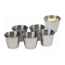 Stainless Steel 2.5-ounce Sauce Cup, Set of 6
