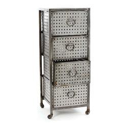 Go Home - 4-Drawer Industrial Bin Unit - 4-Drawer Industrial Bin Unit. Style: Modern, Width: 18, Depth: 18, Height: 47
