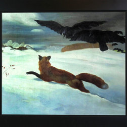 "overstockArt.com - Homer- The Fox Hunt - 20"" X 24"" Oil Painting On Canvas One of Winslow Homer's beautiful winter scenes, The Fox Hunt . Today it has been hand painted on canvas, color for color and detail for detail. Winslow Homer was an American landscape painter, best known for his marine subjects. He was largely self-taught and is considered one of the foremost painters in 19th century America. Enjoy his rich and beautiful imagery captured in a hand oil painting. This image is sure to gain admirers."