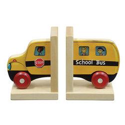 Maple Landmark - Maple Landmark Mighty Driver Bookends -School Bus - Mighty Driver Bookends, School Bus